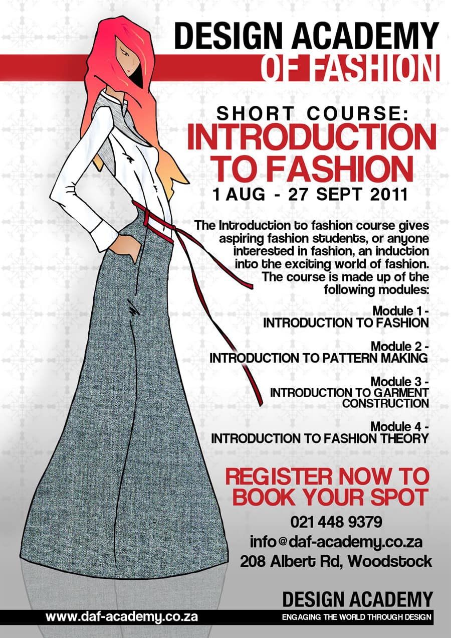 Introduction to fashion daf offers new short course Fashion designing course subjects